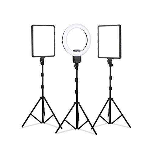 WenFei shop Photography Video Lighting kit,19' Ring Light,1422' LED Panel Light with Stand Kit for YouTube,Makeup, Photography,Live Streaming Fill Light