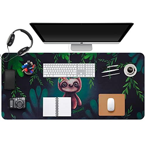 Desk Size Mouse Pad Office Mousepad Large Decorative Mouse Pads X-Large Gaming Mouse Mat Rubber Base Stiched Edges XXL XXXL Gamepad for PC Laptop Computer