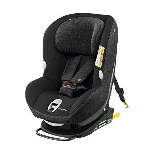 Maxi-Cosi MiloFix Kindersitz, Gruppe 0+ /1 Autositz (0-18 kg), Reboarder mit Isofix, nutzbar ab der Geburt bis ca. 4 Jahre, nomad black