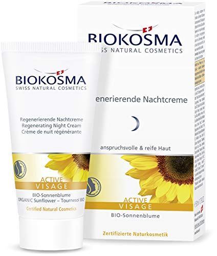 Biokosma ACTIVE VISAGE Regenerierende Nachtcreme / Reichhaltige Nachtpflege für anspruchsvolle Haut / Gesichtspflege mit Anti-Aging-Komplex / 1x 50ml