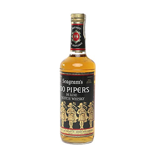 Seagram's 100 Pipers Whisky 1970s