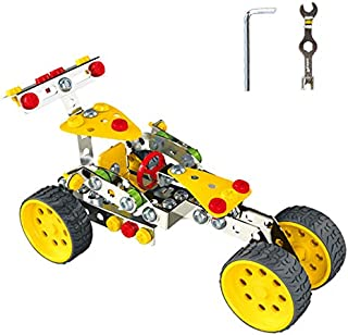 KAIM STEM Racing Car Metal Model Building Kit, Building Toy Kit for Boys & Girls Age 6-14 Years and Up