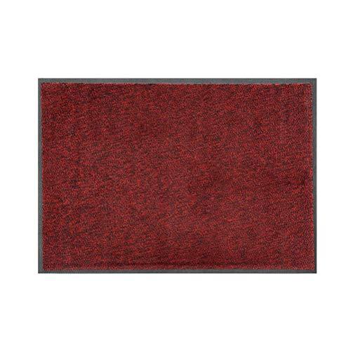 teapot Commercial Door Mat Hotel Mall Household Entrance Mats Non-slip Rug Dust-proof Mat Wear-resistant Non-slip Rubber Mat (Color : Red, Size : 45X75CM)