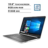 2020 HP Pavilion 15.6 Inch Touchscreen Laptop, Intel 2-Core i3-1005G1 up to 3.4GHz, Intel UHD Graphics, 8GB DDR4 RAM, 512GB SSD, HDMI, WiFi, Bluetooth, Webcam, Windows 10 Home