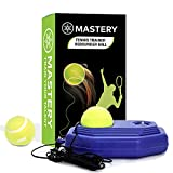 Steelish Tennis Trainer Rebound Ball - Solo Tennis Trainer Tool with Long Rope and 2 Training Balls -...