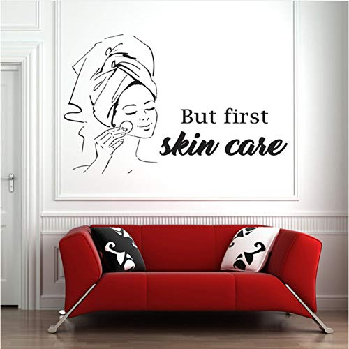 Pbbzl Spa teken gezichtsbehandelingen muurtattoo masker huidverzorging behandeling schoonheidssalon lichaamsmassage vinyl sticker wooncultuur slaapkamer 35 x 56 cm