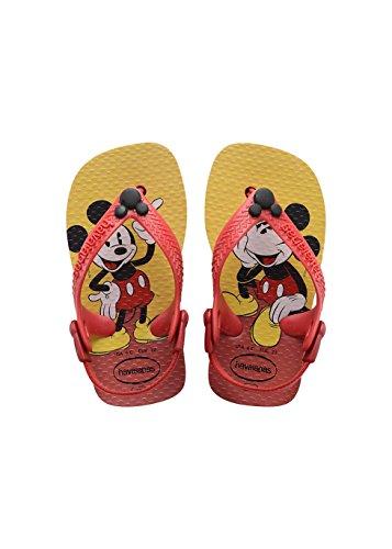 Havaianas HAV. Baby Disney Classics, Chaussures bébé Garçon Unisex Kinder, Multicolore (Rouge (Ruby Rouge)/Noir 0348), 17/18 EU