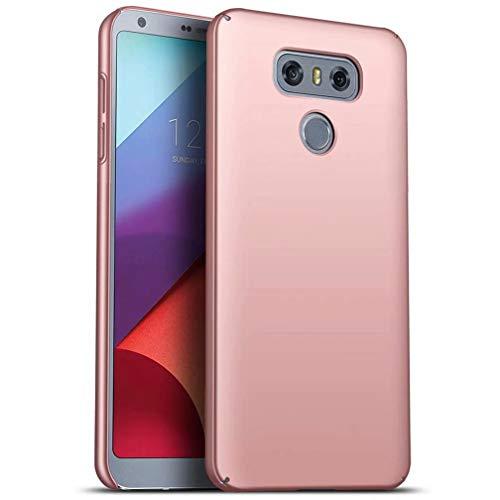 WYRMS Compatible con LG G6 Funda PC de Silicona,Ultra Delgado Parachoques Carcasa de Telefono a Prueba de Golpes Resistente a Los Arañazos Caso-Oro Rosa