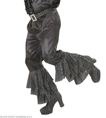 Widmann BLACK SATIN PANTS MEN (L) (w/sequin belt)