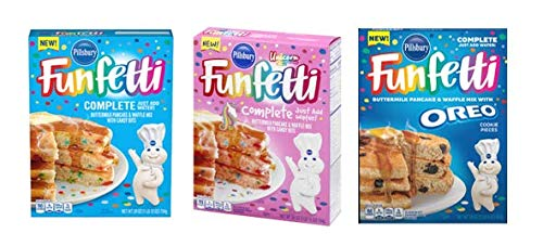 outlet Pillsbury Funfetti Pancake Waffle low-pricing Mix Bundle Un with
