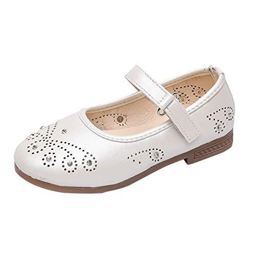 AIni Schuhe Baby,2019 Neuer Beiläufiges Mode Sale Art und Weisebaby Diamant Schmetterlings Mädchen Heiligen Heraus Ballett Pricness Schuh Kleinkinder Lauflernschuhe Krabbelschuhe (26,Weiß)