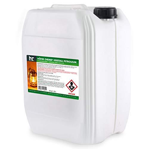 2 x 20 L (40 Liter) gereinigtes Petroleum Heizöl - zum Heizen für Campingheizung, Petroleumofen, Petroleum Laterne, Starklichtlampe uvm.