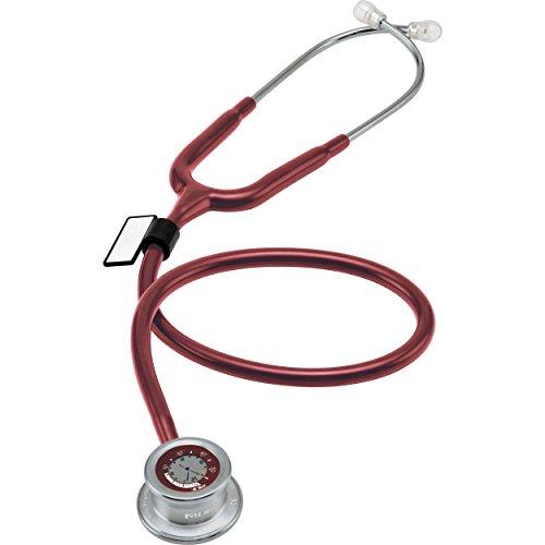 MDF® Pulse Time® Estetoscopio de una cabeza y reloj digital LCD 2 en 1 - Borgoña (MDF740-17)
