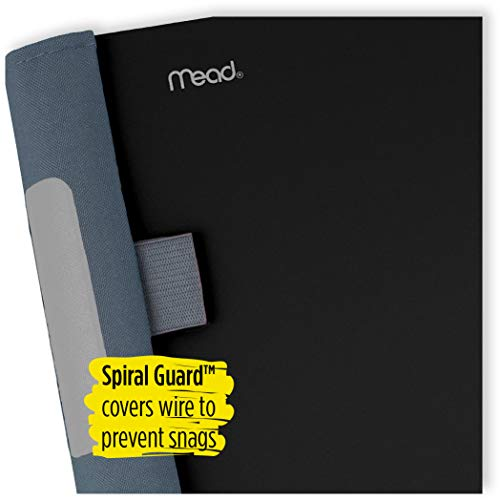 Five Star Advance Spiral Notebook, 5 Subject, College Ruled Paper, 200 Sheets, 11 x 8-1/2 inches, Black (73144) Photo #4