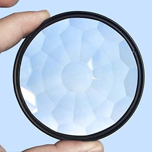 Kamera-Glasfilter, buntes Glasprisma, 77 mm, Kaleidoskop-Prisma, veränderbare Anzahl der Fächer, Kamera-Fotografie-Zubehör (77 mm)