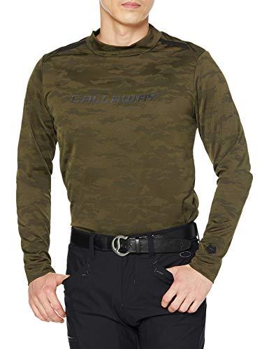 [キャロウェイ] [メンズ] 長袖 ハイネックシャツ 撥水 (雲柄ジャカード・UVカット) / 241-0233504 / インナー ゴルフ 180_カーキ 日本 LL (日本サイズ2L相当)