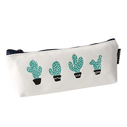 Cactus Baoblaze Trousse /à Stylo Sac de Voyage Pochette Sac de Rangement Polyester Peluche Forme Animaux Mignon 21x 8 cm