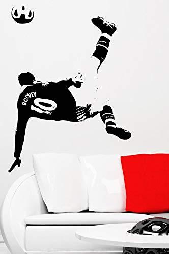 Fútbol Deportes Fútbol Estrella Jugador Rooney Tiro Gol Acción Etiqueta de la pared Vinilo Coche Calcomanía Niños Fans Dormitorio Sala de estar Club Decoración para el hogar Mural