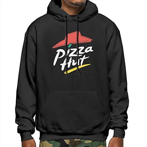 GUANGZHOUHONGYUAN Pizza hut Mans Sweater Fashion Loose Soft Sweater Black