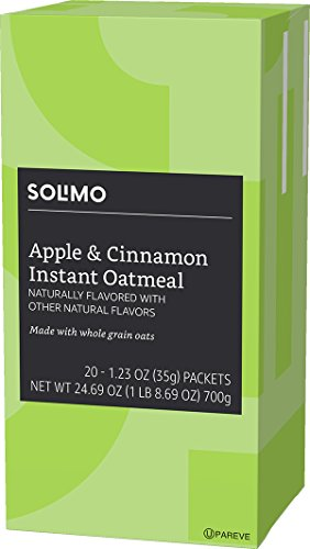 Amazon Brand - Solimo Instant Oatmeal, Apple & Cinnamon, 20 Packets