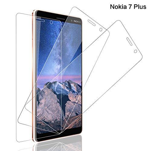 SNUNGPHIR Panzerglas Schutzfolie für Nokia 7 Plus [3 Stück], 9H Festigkeit Panzerglasfolie Bildschirmschutzfolie für Nokia 7 Plus, Anti-Kratzer Schutzglas, Bläschenfrei Transparent [Einfache Installation]