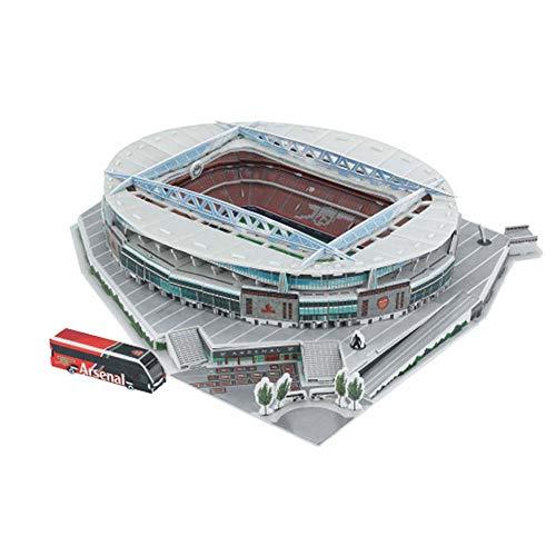 JXS Arsenal Football Emirates Stadium Replica, Fußballstadion 3D-Puzzle - 108pcs 36 × 30 × 7Cm