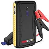 Car Jump Starter - 800A Peak 10800mAh Car Auto Battery Booster for up to 4.5L Gas Engine with USB Quick Charge, Phone and Tablet Charger, 12V Portable Battery Starter with Built-in LED Light