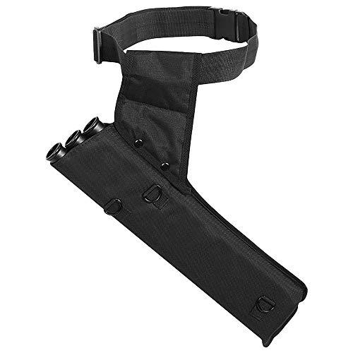 Lixada Bogenschießköcher Tragbarer Bogenschießköcher 3-Röhren Pfeilköcher Pfeilhalter für Rücken oder Taille,Verstellbarer Schultergurt