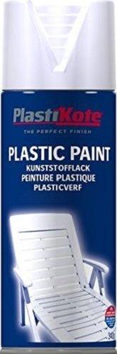Plasti-kote 10607 400ml Plastic Paint - White Gloss