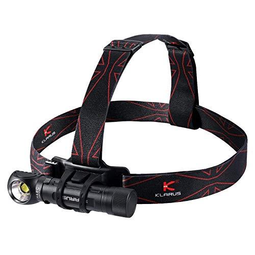 Klarus HA2C 3200 lúmenes CREE LED Linterna frontal recargable USB multifuncional ángulo L lámpara de herramienta con extremo magnético para camping, al aire libre, senderismo, correr, trabajo