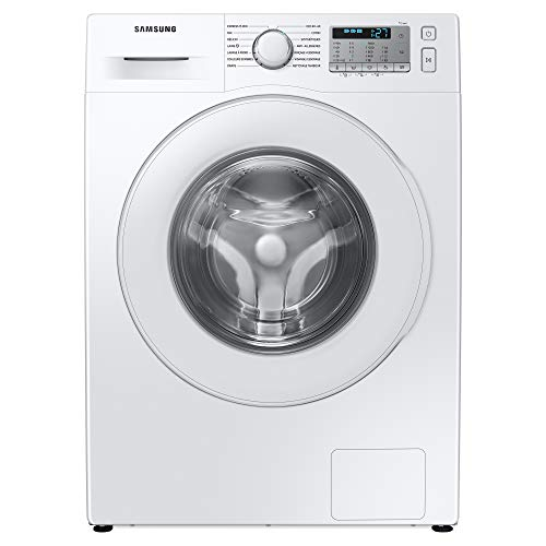 Samsung WW80TA046TH/EU Freestanding Washing Machine with ecobubble™ and Hygiene Steam, 8kg Load, 1400rpm Spin, White