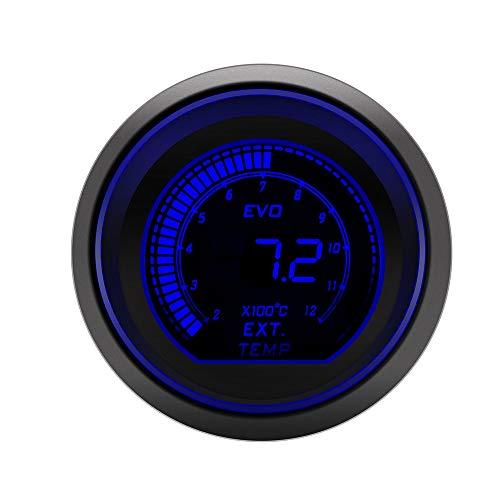 SUNTAOWAN 2 Pulgadas 52 mm Turbo automotriz Temperatura del Aceite hidráulico Temperatura acelerómetro Controlador Digital de PSI voltímetro tacómetro tacómetro (Color : Ext Temp Gauge)