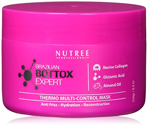 Brazilian Hair Bottox Expert Thermal Mask 8.8 oz - Contains Marine Collagen and Almond Oil - Formaldehyde-Free - Repairs the Hair Elasticity and Flexibility, Softens, Moisturizers, Adds Shine