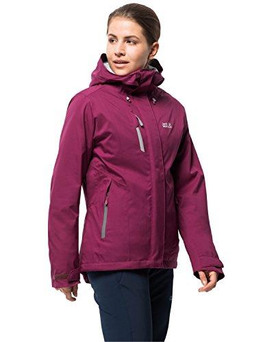 Jack Wolfskin Women's Troposphere Waterproof Hybrid Down-Fiber Insulated Jacket, Amethyst, Large