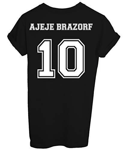 New Indastria T-Shirt Stampa Retro Ajeje Brazorf 10 -Cult Divertente - Uomo-M-Nera