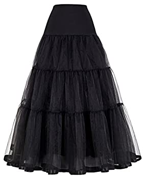 GRACE KARIN Puffy Ankle Length Dress Underskirts for Plus Size Dress  4X Black