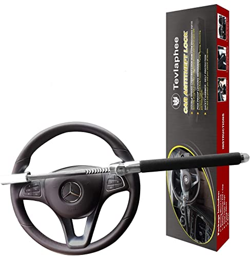 Tevlaphee Steering Wheel Lock for Cars,Wheel Lock,Vehicle Anti-Theft Lock,Adjustable Length Clamp...