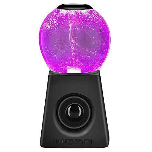 SODIAL LED 7 Couleurs Tornade d'eau Veilleuse LED ColoréE Haut-Parleur Danse de l'eau Audio Subwoofer Cadeau CréAtif