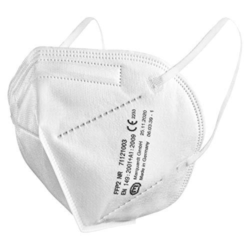 Marquardt 20 Stück FFP2 Masken, Mundschutz-Masken mit CE Kennzeichnung - 100% Made in Germany, 20 Stück