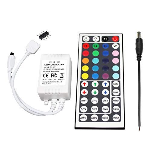 UltraBright 44 Key Tasten IR Remote Control Fernbedienung, 12V 6A Controller Kontroller Empfänger für SMD RGB LED Fee Beleuchtung Strip Licht Streifen