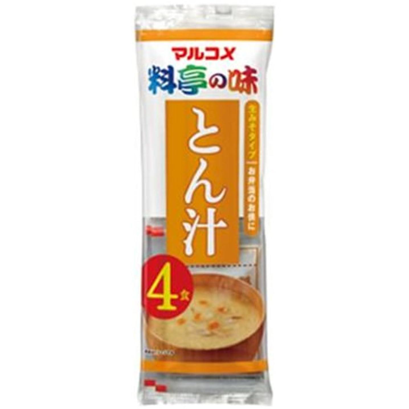 ポジション征服ホイッスル生みそ汁 料亭の味 とん汁 即席味噌汁 4食×12袋