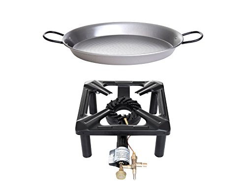 Paella World International Gaskocher Hockerkocher-Set 4 mit Paella-Pfanne, Mehrfarbig, 2-teilig