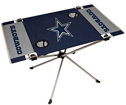 NFL Portable Folding Endzone Table, 31.5 in x 20.7 in x 19 in, Dallas Cowboys Dallas Cowboys Tailgate Table
