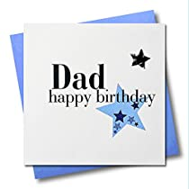 Claire Giles Hearts and Stars Happy Birthday Dad Card