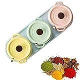 Recipiente de la botella de la caja de la especia Tarrar el recipiente de almacenamiento de condimento de cerámica para almacenar Pimienta de pimienta en polvo sal de azúcar pimienta de color macarrón