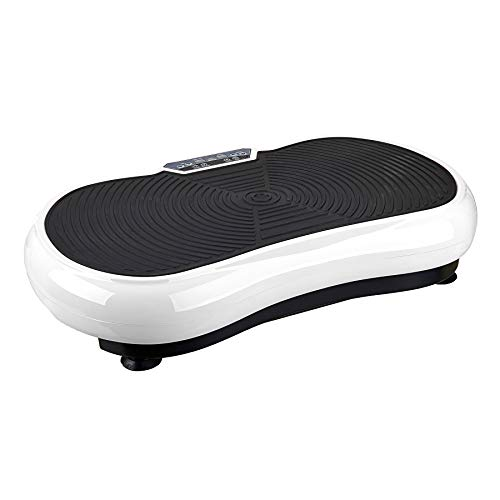 Pinty Fitness Vibration Platform - Whole Body Vibration Machine Crazy Fit Vibration Plate with Remote Control and Resistance Bands(White)