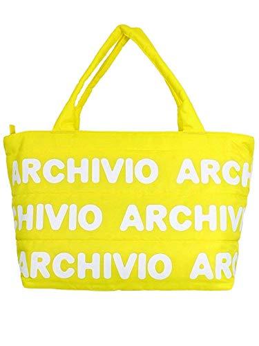 アルチビオ/archivio (秋冬!) ロゴ柄 ボストンバッグ ナイロンバッグ/軽量(レディース・メンズ) (*, 140/イエロー)