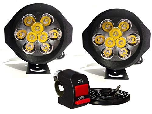 9 LED HJG 20w High Beam Headlight Universal Fog Light for Bike Car and Heavy Truck Clear Vision in Night Royal Enfield Pulsar Splendor Bolero Jeep and All Model - Set Of 2