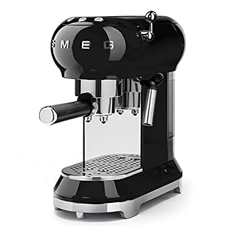 Smeg Espresso Machine Black ECF01 BLUS