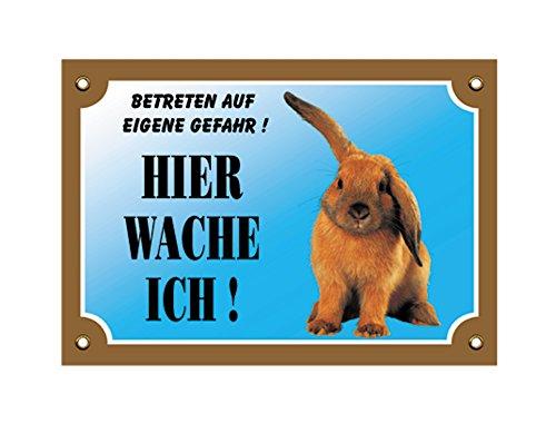 Nobby Warntafel Kaninchen gelb 12 x 3,5 cm
